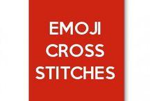 emoji cross stitches