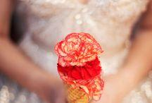 Ice Cream Cone Wedding Bouquet