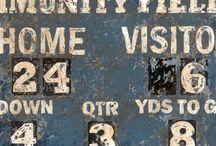 Scoreboard Art , Artwork and Decor / Sports scoreboard art by Aaron Christensen.