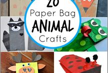 Crafts with kids / painting, decorating, kindergarten, school, teaching, kids