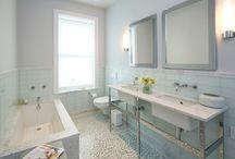 Hudson Street Master Bathroom / Modern white carrara master bath