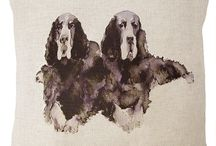 Gordon Setters / All Nikki's fabrics are designed and printed in the UK.  www.nikki-szabo.co.uk