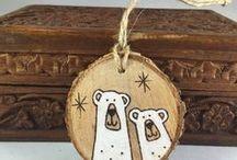 Деревенские рождественские орнаменты