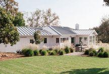 White + Bright Farmhouse Exteriors / I love the clean classic look of a modern white farmhouse.