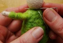 needle felt dolls and animals
