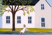 Diana Card Naive Paintings / …paintings & prints that capture scenes that celebrate the beauty in everyday life.