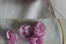 Ribbon e Kanzashi / Fiori in stoffa e ribbon