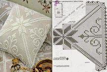 Cama, Mesa e Banho em Crochê, Renda, Tricô... / Bed, Bath and Table Crochet, Lace, Knitting...