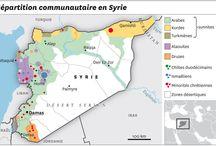 Éléments de contexte / Des cartes pour situer la Syrie ou en saisir les grandes caractéristiques.