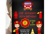 Firefighter themed Birthday Party Suite / Fireman themed party supplies