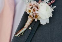 Grey & Soft Pink Colour Wedding / The perfect combination - soft grey and light pink suits, wedding dresses, flowers and decorations.