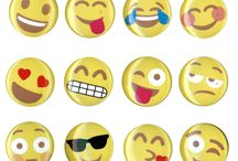 Emojis / Social media style faces full of emotion!