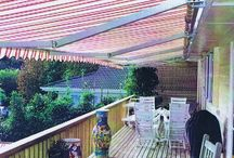 Awnings around the home / Lateral awnings, swing arm awnings and drop awnings add value and protection to any setting