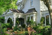 Houses Exteriors, Porches and Gardens