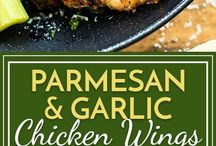 Parmesan and garlic chicken wings