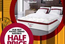 NOVEMBER / 50% OFF ALL Swisstek Mattresses at Beds R Us!  ALL Models - ALL Sizes 50% off in November!