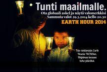 EARTH HOUR  / Tunti maailmalle - Earth Hour 2014 lauantaina 29. maaliskuuta. Ohjelmaa WERAn julkisella koko päivän ajan!