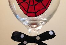 Spider man cup painting