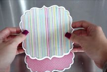 Video of shaped easel card