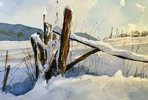 painting snow / Arte