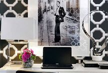 Home Office: Chic Decorating Ideas / Chic home office interiors to Inspire and ignite your decorating ideas in creating a totally feminine space.