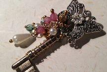 nøkkel, tannhjul smykker