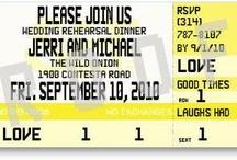 Rehearsal Dinner Ticket Invitations