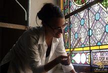 egyházi vallási templom ólomüveg