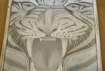 Rysunki / Strona o rzeczach stworzonych przez nas! cat, tiger, rysunek, dziki kot