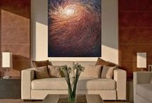 Houzz / Art Mock ups on Houzz - living rooms & bed rooms, modern, rustic, and traditional spaces and what my art would look like in them.