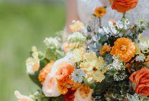 Burnt Orange and Autumn Wedding Colour Scheme Inspiration / Autumn/Fall wedding inspiration with an orange, rust and gold colour scheme
