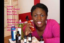 pousse des cheveux crépus avec des produits biologiques fait main