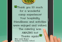 Referrals and Testimonials to our great Camp Facilities / No description needed, our referrals say it all!