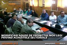 CURS MODIFICARI ADUSE NOII LEGI PRIVIND ACHIZITIILE SECTORIALE / Cursurile sustinute de Proiect ContaPlus in luna decembrie!