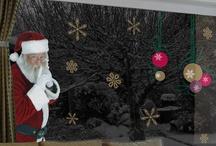 Mikulás  és ablak - Santa in windows