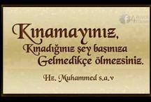 peygamberimizin sözleri