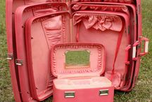 Vintage Luggage / Retro vacation fashion - vintage luggage sets, trunks, and bags