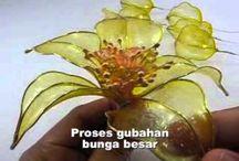 Fleurs plastique liquide