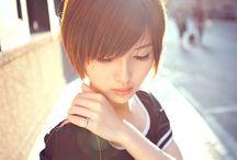 Cute asian short hairstyle