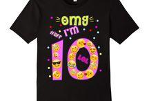 birthday t shirt emoji