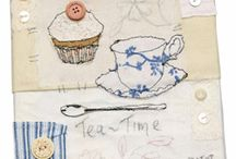 "Tea for Tuesday / Cloth Paper Scissors Today Editor Cate Prato has started a new blog on creating mixed-media art in a tea-themed series, and she's calling it Tea for Tuesday! Create your own tea-inspired board and enter to win our Pin Tea Tuesday contest. One lucky pinner will receive a set of screen-printed tea towels from Cate plus a selection of Mixed-media books and DVDs from Interweave. Name your board ""Tea for Tuesday"" and tag your pins with #PinTeaTuesday so we can find them!  / by Cloth Paper Scissors"