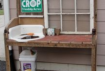 A collection of Potting Bench ideas