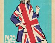 Mod Print Collection / The 1950s and 60s was an interesting time in design, fashion, illustration, and pop-culture. The modernist style was an effort to break free of tradition. Natural was out man-made was in. After spending years admiring poster art created in the 1920 to the 1940s, I'm starting to appreciate those who rose to fame in the 50s and 60s who wanted to make a mark for themselves. Here are samples from that stylish, bizarre, silly & beautiful era. This has inspired me to create a few of my own designs! / by Anderson Design Group