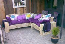 Tuin meubelen van sloop en steigerhout / Uit eigen werkplaats.