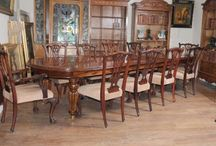 Mahogany Dining Sets / Large range of classic antique mahogany dining sets at Canonbury Antiques. Large Victorian mahogany dining table and matching chairs? Regency pedestal table and swag back chairs? Come and see these mahogany dining sets in our North London showroom...