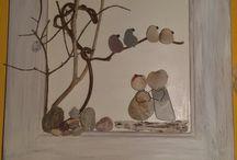 quadro di sassi