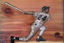 My Ceramic Sports Sculptures / Ceramic and bronze sculptures of sports figures sculpted by me.