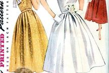 Vintage clothing / Patterns and pictures of 40s,50s,& 60s clothes,