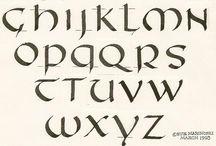 Calligrafia Dell'alfabeto