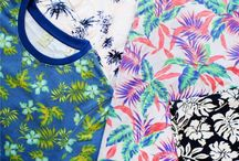 Hawaiian Punch / Hawaiian prints make a comeback this season, looking brighter and cooler on the street than they do in situ on the beach. From poolside tees to shorts and bomber jackets, tropical botanical prints have found their way onto your most crucial summer staples. Perfect for perking up a gloomy day, pair your tropical prints with tailored separates for a polished finish to this easygoing look.